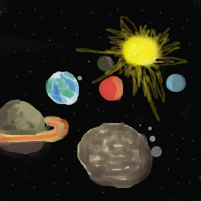 Космос, |, Echik, Галерея, набросков, рисунок, картинка, picture