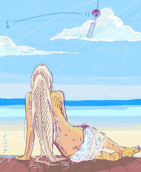 Море, |, pruzjinka, Галерея, рисунков, Очень, хочется, погреться, в, лучах, летнего, солнышка, ^^, рисунок, картинка, picture