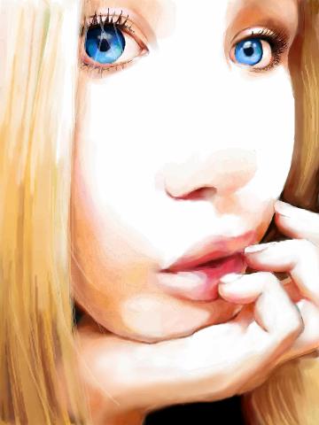 My, eyes, are, blue, |, Yui-sama, Галерея, рисунков, рисунок, картинка, picture