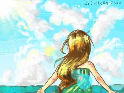 солнышко, |, Chidory, Галерея, рисунков, и, море, рисунок, картинка, picture