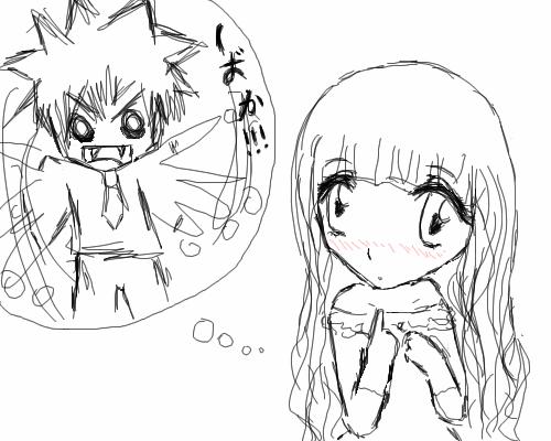 Я, о_О, хD, |, Makoto_chan, Эскиз, рисунка, рисунок, картинка, picture