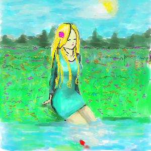 Цветок, |, Евгеш, Галерея, набросков, рисунок, картинка, picture