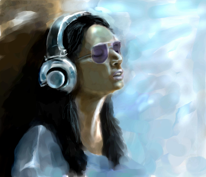муззз, |, voice, Галерея, набросков, слушаем, музыку, руки, прочь, рисунок, картинка, picture