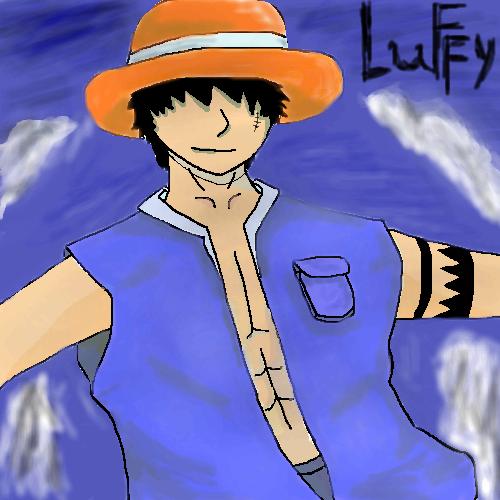 Luffy, in, flying, |, kratch, Эскиз, рисунка, работа, рисунок, картинка, picture