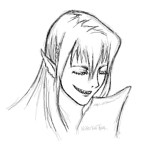 Smile, |, Hidaka, Kaoru, Галерея, набросков, Ум, Внезапно, зубы, рисунок, картинка, picture