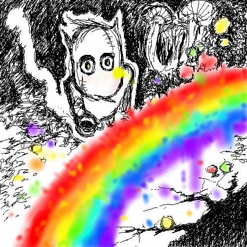Al, need, in, rainbows, |, Hidaka, Kaoru, Галерея, набросков, Психоделично, рисунок, картинка, picture