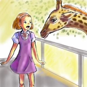 девочка, и, жираф, |, Jerry-me, Галерея, рисунков, рисунок, картинка, picture