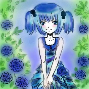 синие, розы, |, Rinkashiki, Галерея, рисунков, рисунок, картинка, picture