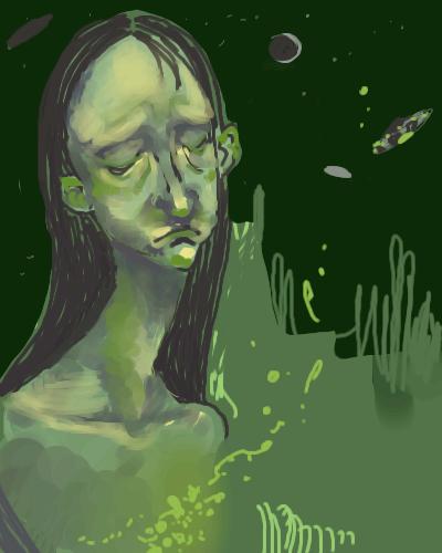 depression, and, flying, saucers, |, Demon, Эскиз, рисунка, рисунок, картинка, picture
