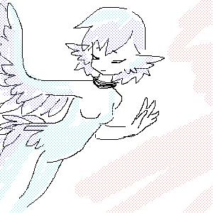 Синяя, птица, |, Tisha, Галерея, набросков, щастья, =, рисунок, картинка, picture