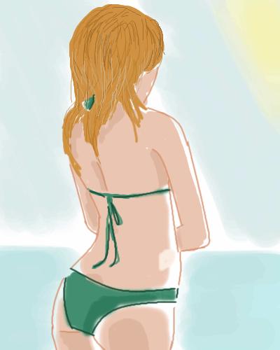 Girl, at, the, beach, |, Lucius, Галерея, набросков, В, оригинале, у, девушки, есть, лицо, но, оно, меня, выходило, мега-криво, поэтому, девушка, отвернулась, рисунок, картинка, picture