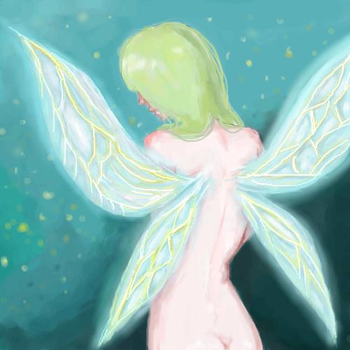 fairy, |, M-ael, Эскиз, рисунка, рисунок, картинка, picture