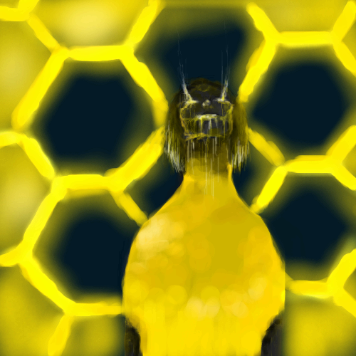 Bee, |, M-ael, Эскиз, рисунка, рисунок, картинка, picture