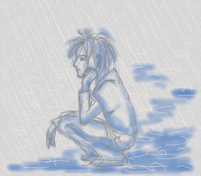 дождь, |, ais, Галерея, набросков, рисунок, картинка, picture
