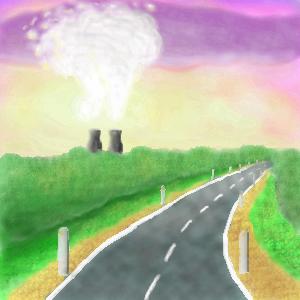 Атомная, станция, |, Беленькая, Рена, Галерея, набросков, Вид, из, машины, рисунок, картинка, picture