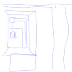 Вид, из, окна, |, conniy, Эскиз, рисунка, рисунок, картинка, picture