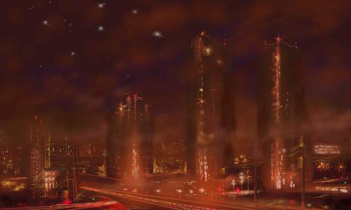 Город, будущего, |, makatuk, Галерея, рисунков, рисунок, картинка, picture