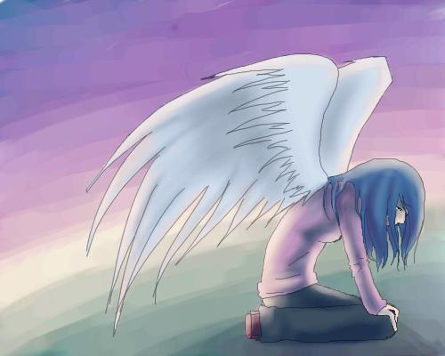 angel, |, Rika, Эскиз, рисунка, рисунок, картинка, picture