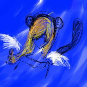 angel, monkey,  , Crazy-Frog-kawai, Галерея, набросков, рисунок, картинка, picture