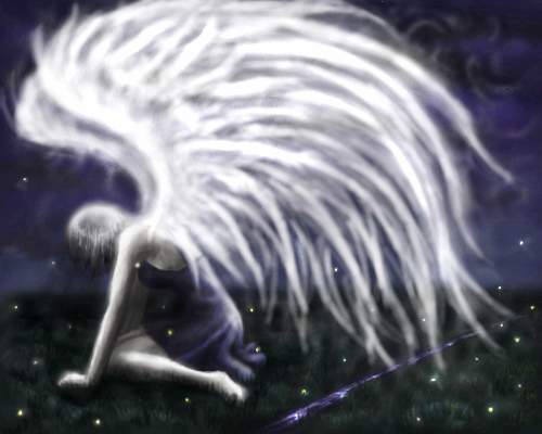 ангел, |, kokoro, Галерея, набросков, -___-, рисунок, картинка, picture