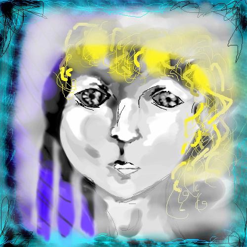 за, окном, |, лу, Эскиз, рисунка, девушка, рисунок, картинка, picture
