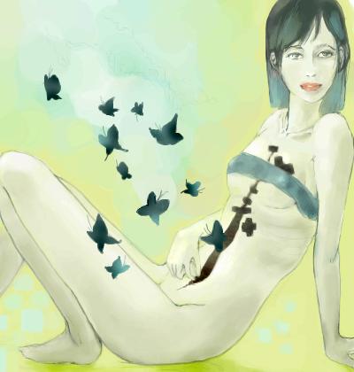 Бабочки, в, животе, |, mika, Галерея, рисунков, Abdominal, pains, Love, actually, рисунок, картинка, picture