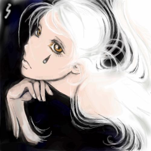 задумчивость, |, Kyjo, Галерея, рисунков, первое, что, я, здесь, попыталась, нарисовать, рисунок, картинка, picture